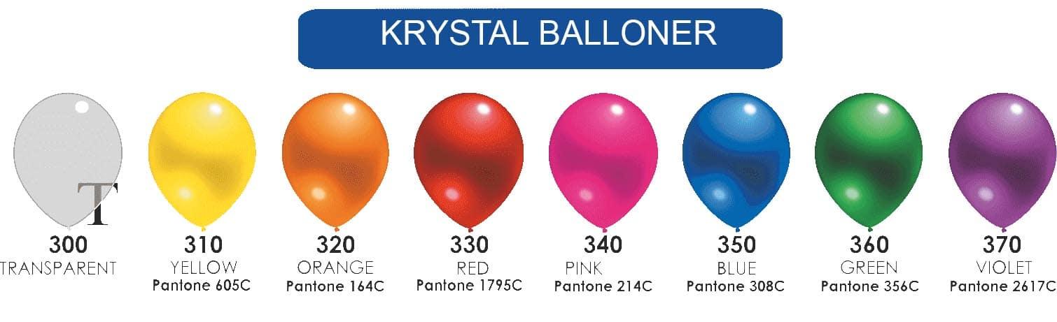 Farvekort krystal balloner