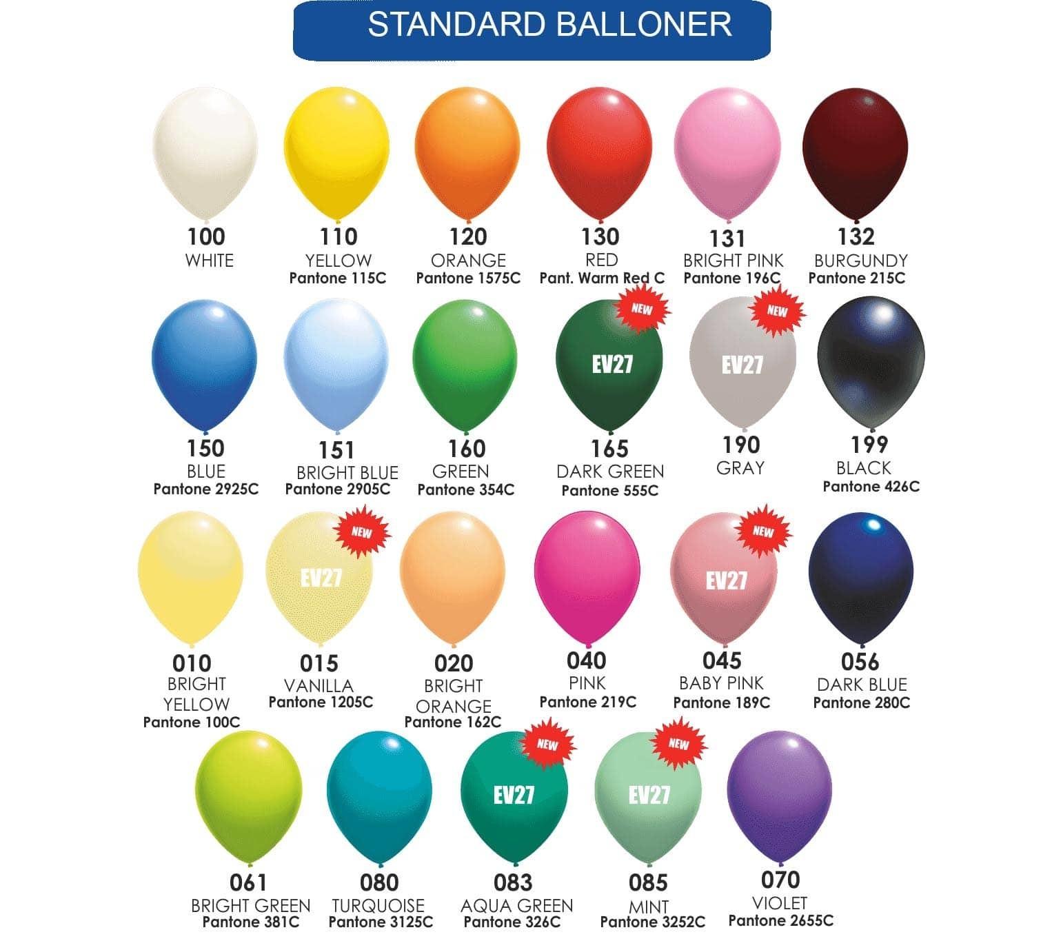Farvekort Pastel/standard