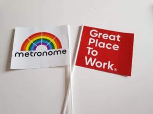 Metronomen papirflag