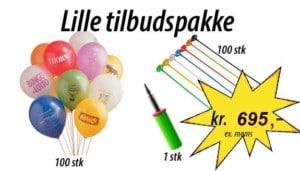 Lille ballonpakkeSide: Balloner med tryk