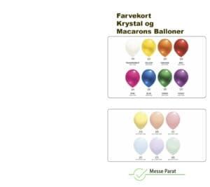 farvekort krystal og macarons balloner